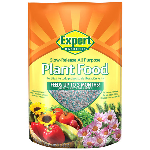 Expert Gardener Slow-Release All Purpose Plant Food, 5 lbs