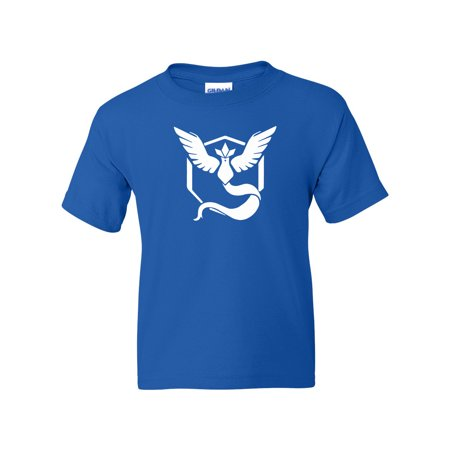 Pokemon Go Gym Team Mystic Blue Youth Boys Girls Short Sleeve Tee T-Shirt