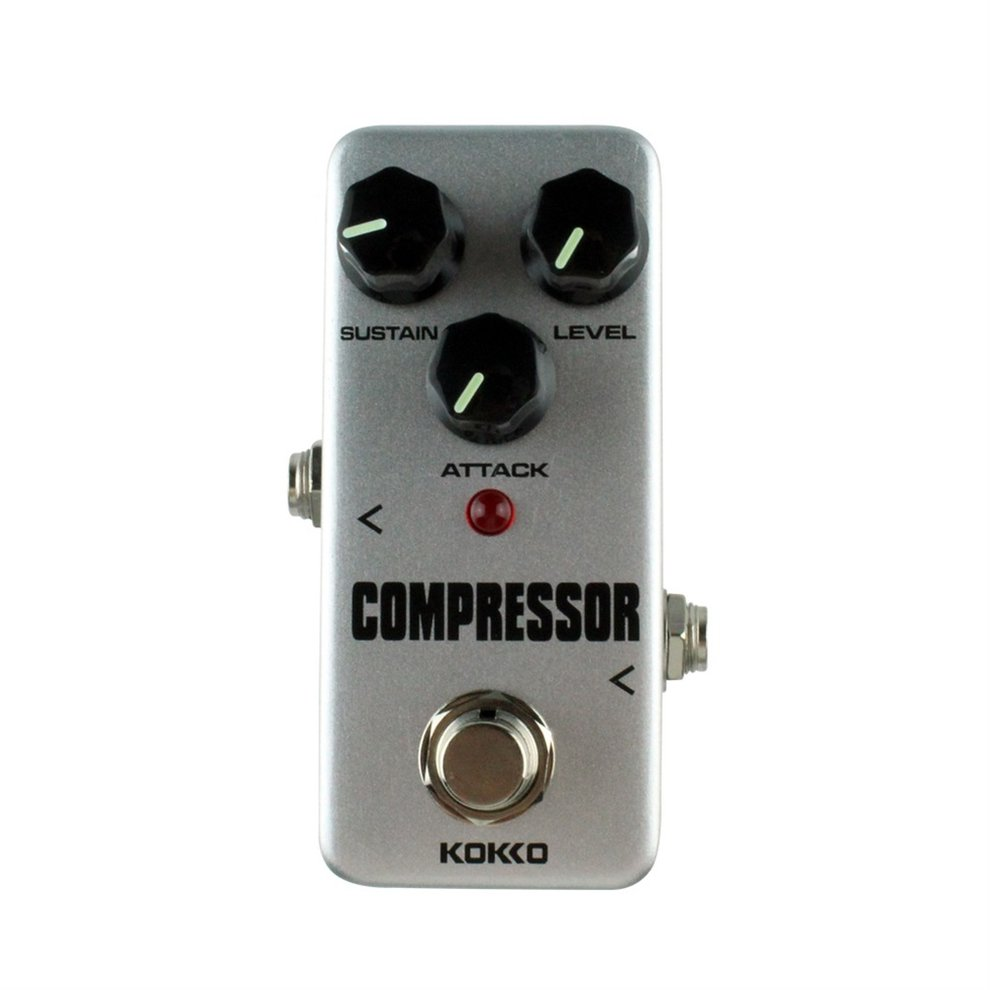Anti-skid Aluminum alloy KOKKO FCP2 Mini Compressor Pedal Portable Guitar Effect Pedal 9V... by