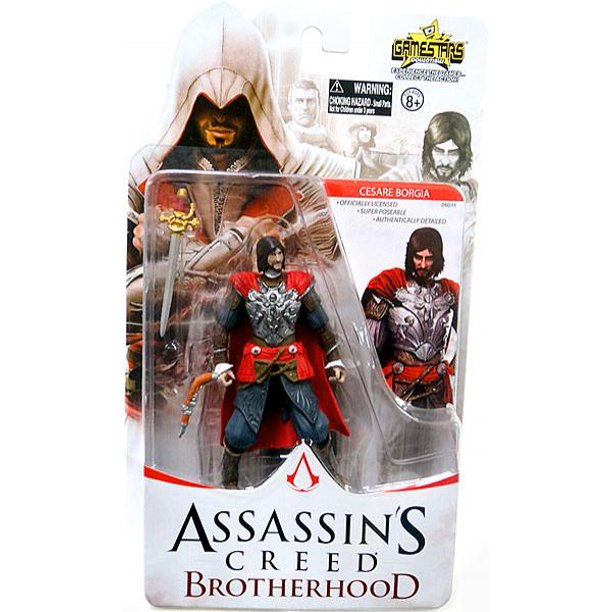 Assassin S Creed Gamestars Cesare Borgia Action Figure Walmart Com Walmart Com