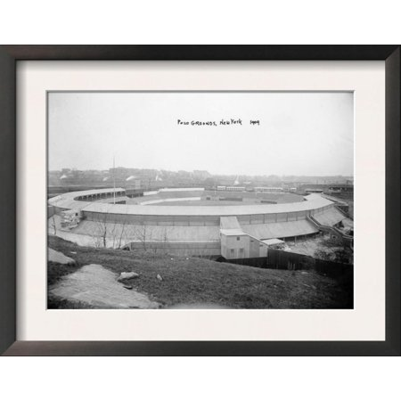 New York Giants Baseball Polo Grounds (Polo Grounds, NY Giants, Baseball Photo - New York, NY Framed Art Print Wall Art)