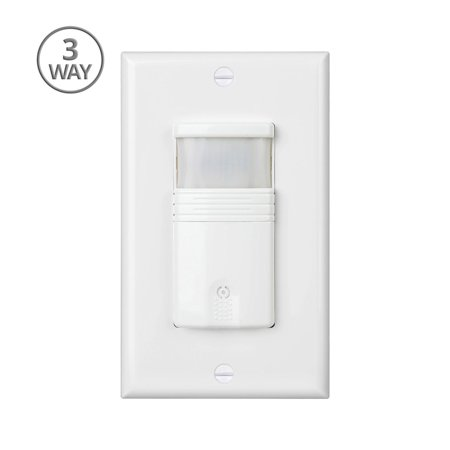 3-Way Motion Sensor Light Switch Neutral Wire Required With Adjustable