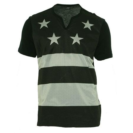 Split Mesh (International Concepts Men's Adams Mesh Flag Split Neck Shirt Size XXL)