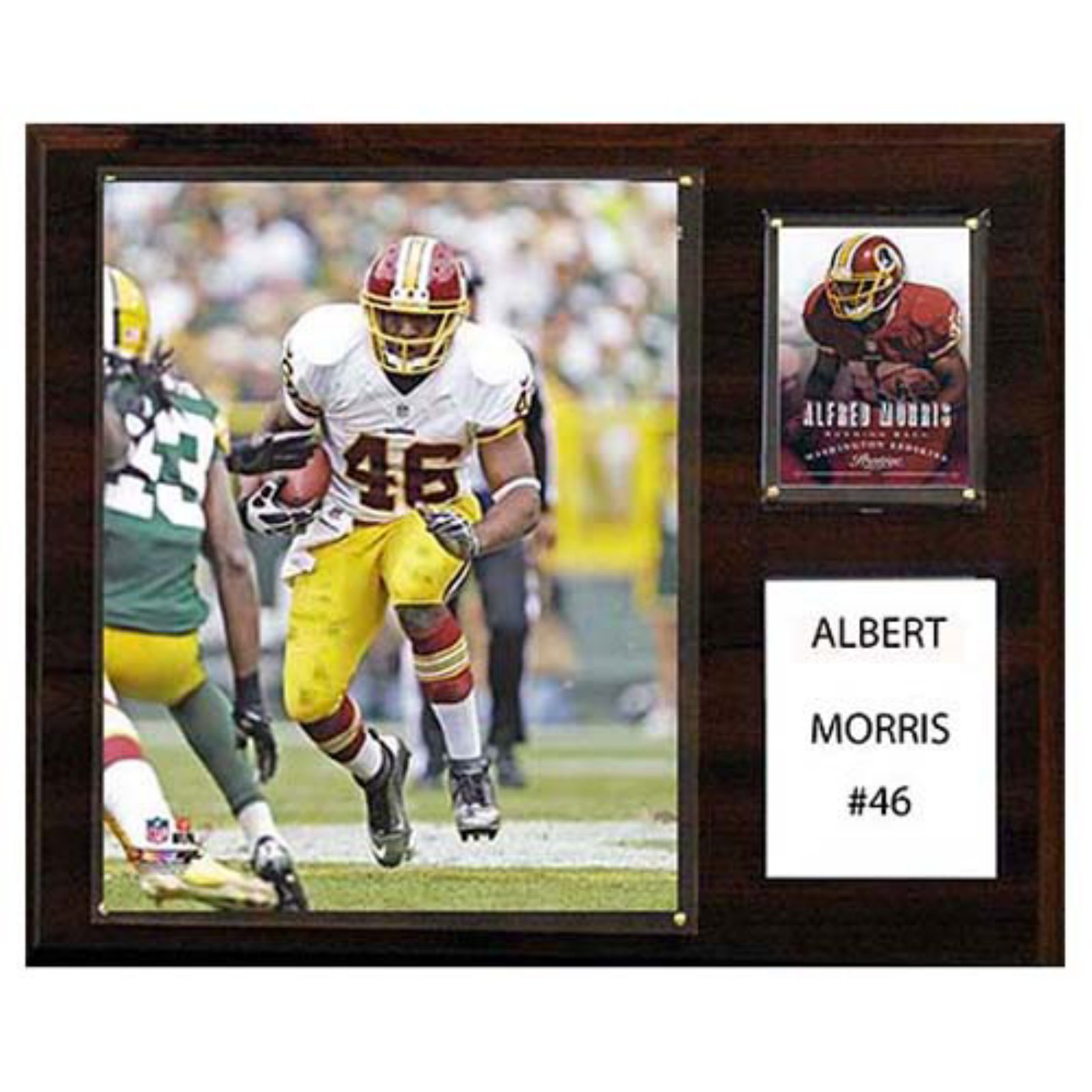 C and I Collectables NFL 15W x 12H in. Alfred Morris Washington Redskins Player Plaque