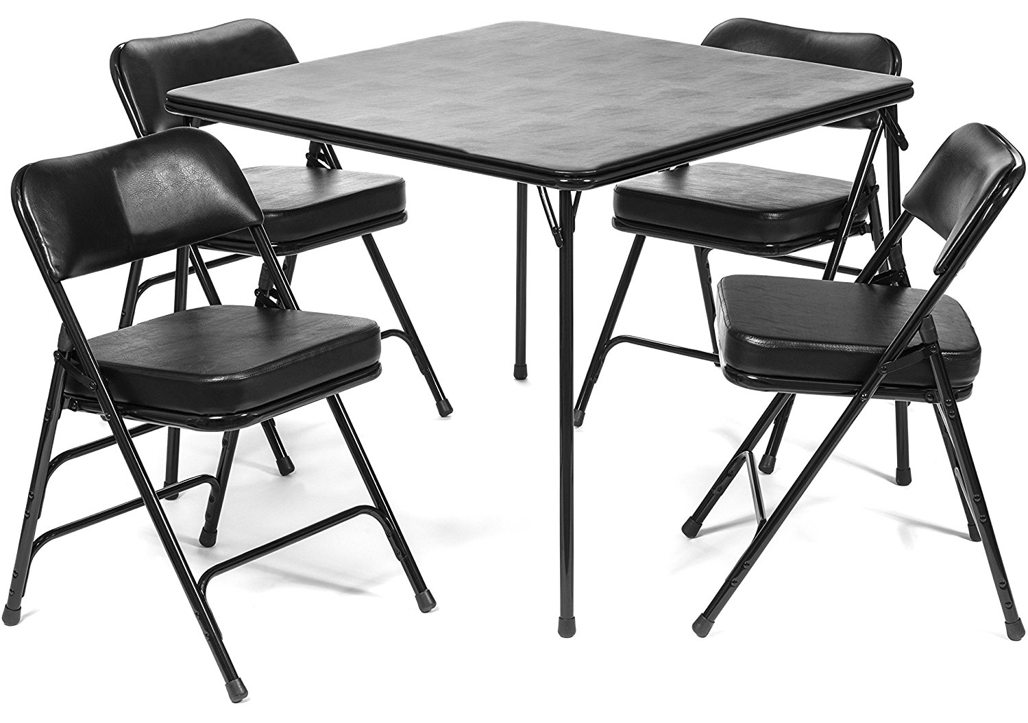 xl series folding card table and 2 in ultra padded chair set