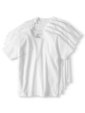 Wonder Nation Little Boys & Big Boys Undershirt, Crew Neck T-Shirts, 5 Pack