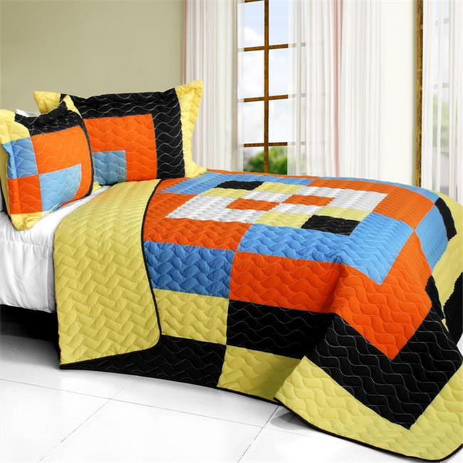 Twilight Romance - 3 Pieces Vermicelli - Quilted Patchwork Quilt Set  Full & Queen Size - Multicolor - image 1 of 1