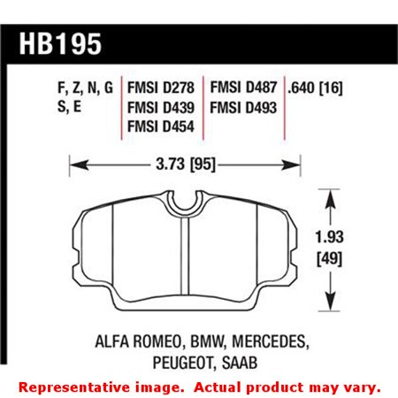 Hawk BMW 3 Series / Mercedes Benz 190 Series / Saab 900/9000 DTC-60 Race Front Brake (Bmw Performance Brakes)