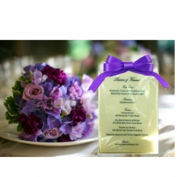 Eat Your Words - Edible Gourmet White Chocolate Wedding M...