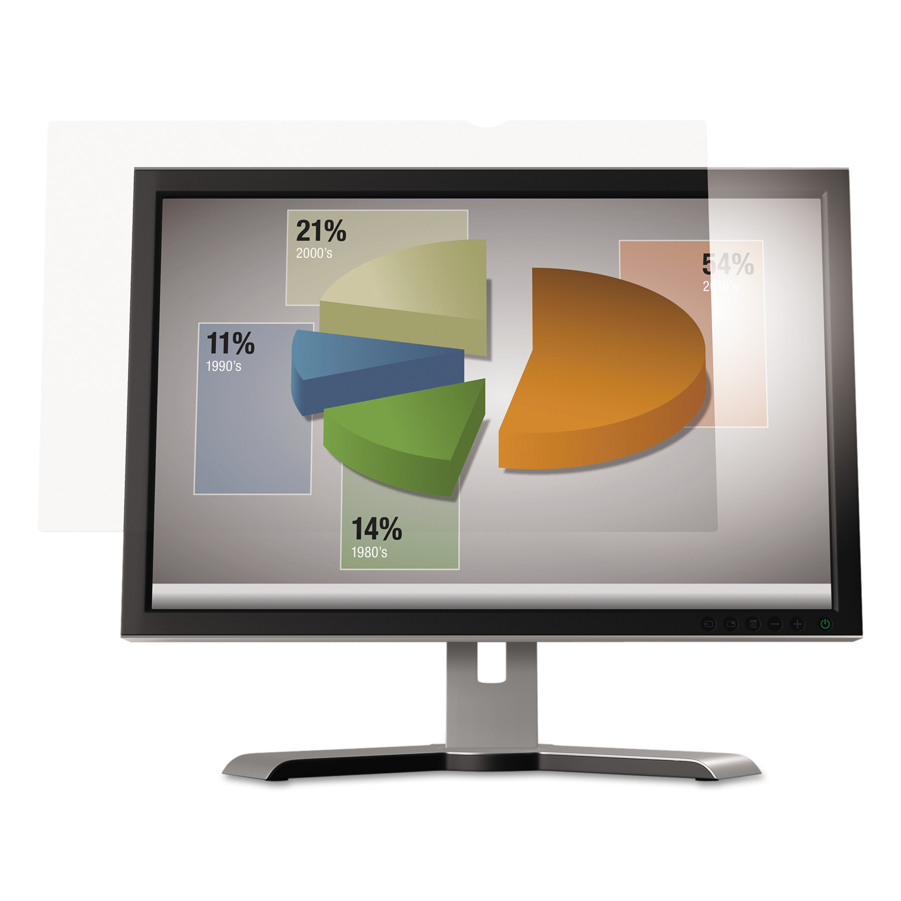 "3M Antiglare Flatscreen Frameless Monitor Filters for 24"" Widescreen LCD, 16:9"