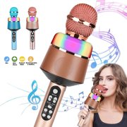 LNKOO Karaoke Bluetooth Wireless Microphone , 5 in 1 Portable Singing Machine Speaker for Android/iPhone/PC, Portable Microphone for Kids, Best Gifts Toys for Kids, Girls, Boys and Adults