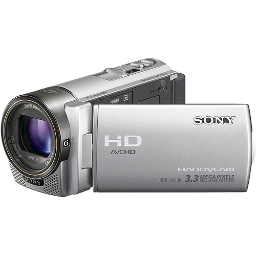 "Sony Handycam HDR-CX130 Silver, 60p Full HD Camcorder, 30x Optical Zoom, 3"" LCD"