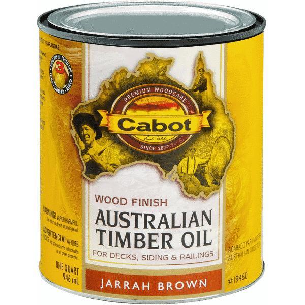 Cabot Australian Timber Oil Water Reducible Translucent Exterior Oil Finish