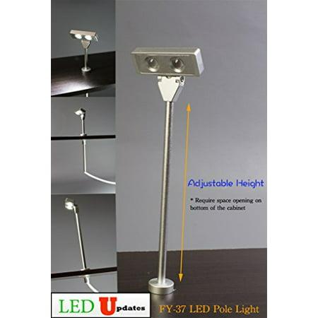 Set of 2 LEDupdates Showcase LED light pole style spot light Silver FY-37 with UL Listed power supply