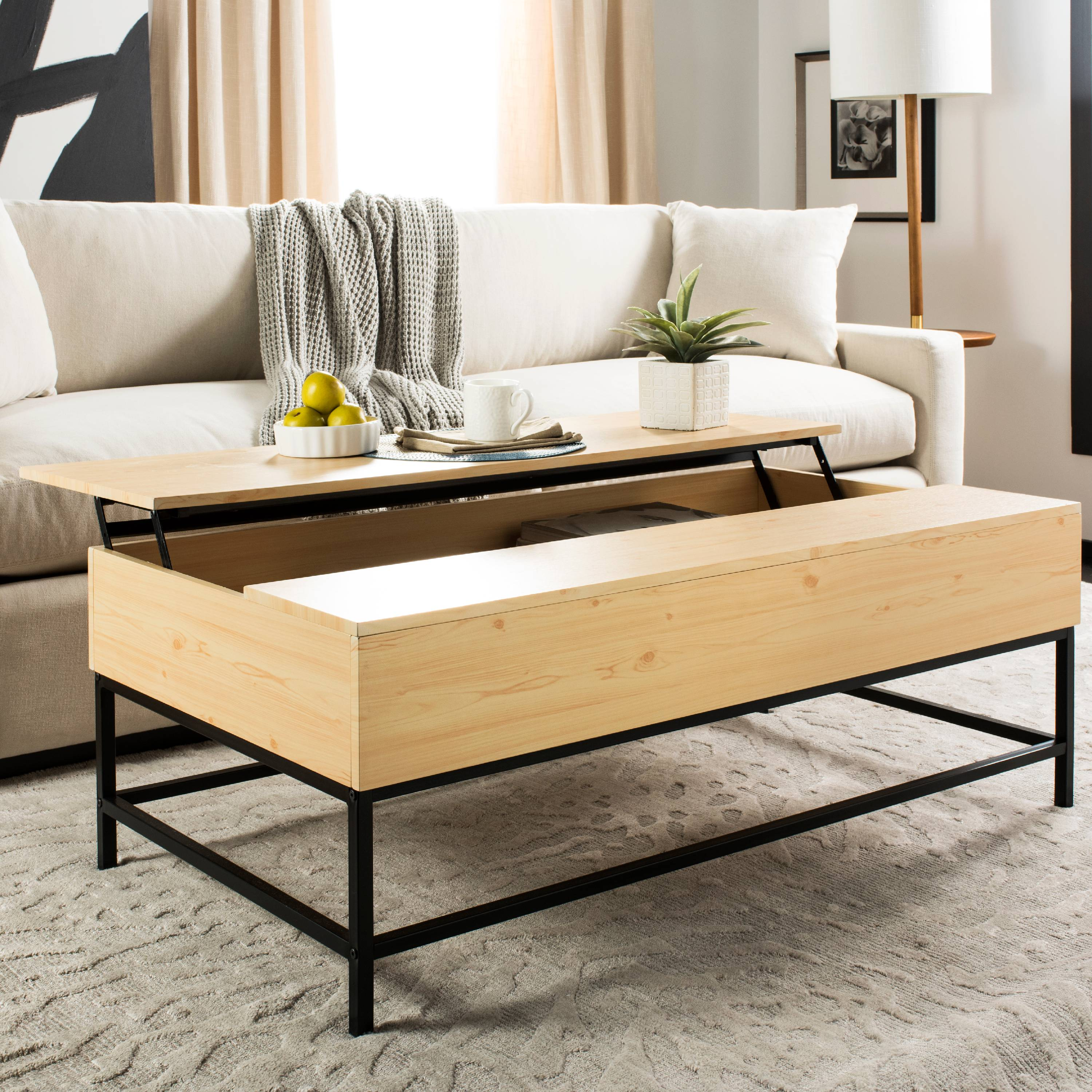 Safavieh Gina Contemporary Lift Top Coffee Table With Storage   Walmart.com