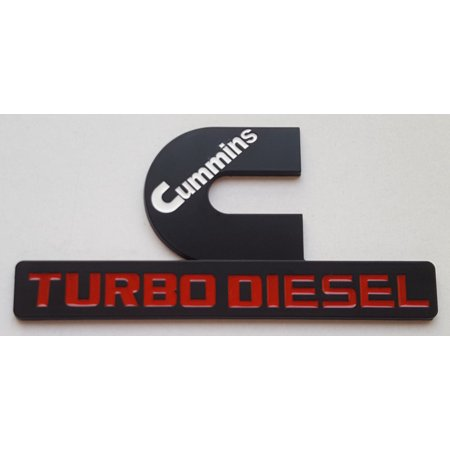 Black Dodge Cummins 12V 24V 4BT 6BT Turbo Diesel Replaces Emblem Badges for Ram 1500 2500 3500