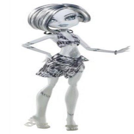 Monster High Skull Shores Black and White Frankie Stein Doll