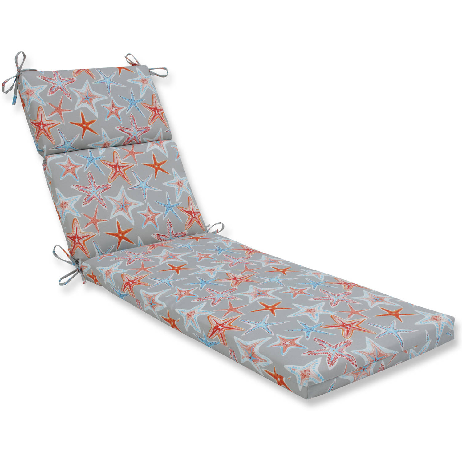 Pillow Perfect Outdoor/Indoor Stars Collide Pewter Chaise Lounge Cushion