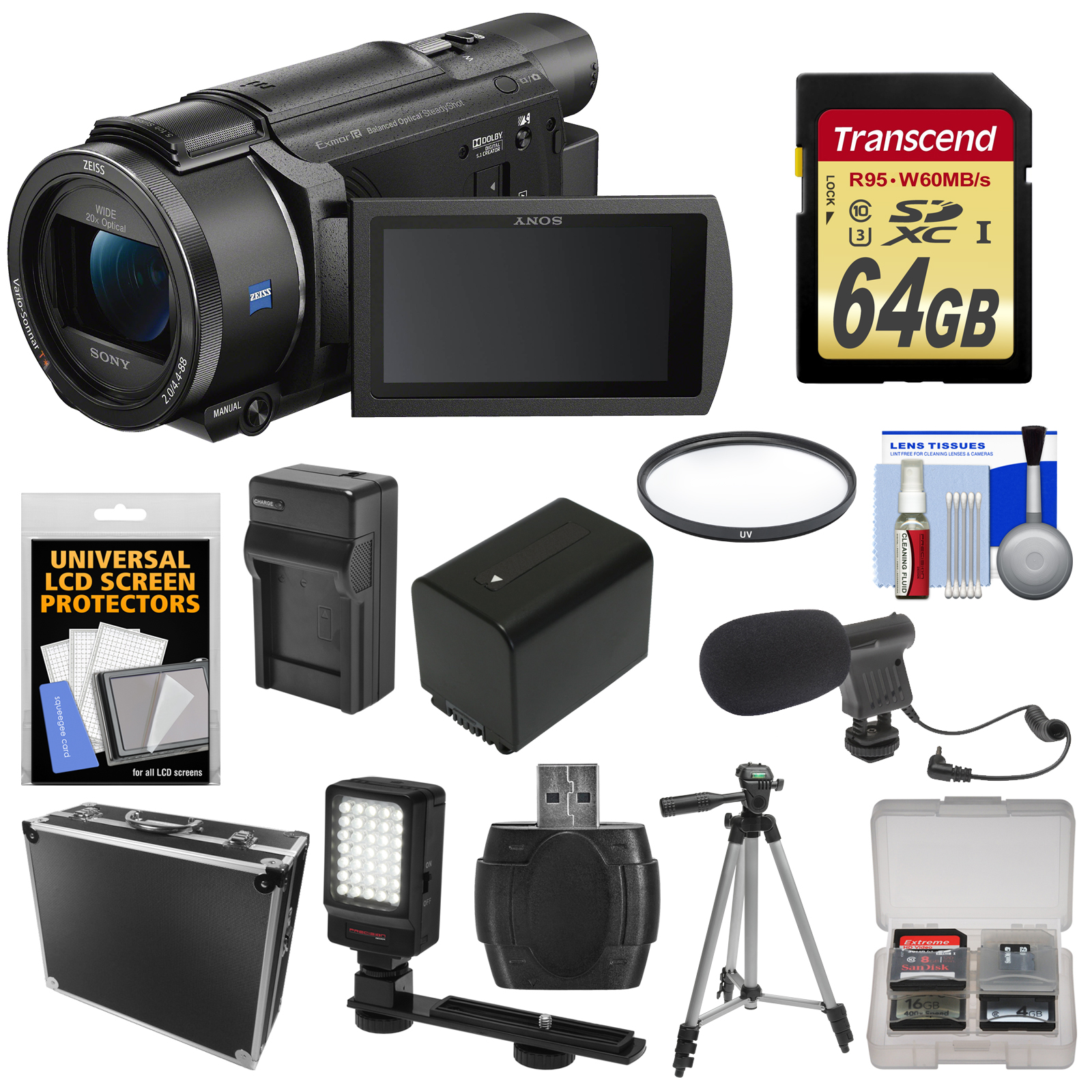 Sony Handycam Fdr Ax53 Wi Fi 4k Ultra Hd Video Camera