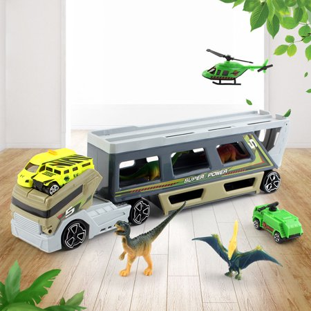 BEAD BEE Dinosaur Transport Truck Wild Life Animal Safari Car Carrier Toys Trailer Gift - Dino Trucks