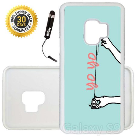Custom Galaxy S9 Case (Yo Yo Trick) Edge-to-Edge Rubber White Cover Ultra Slim | Lightweight | Includes Stylus Pen by - Custom Yoyo