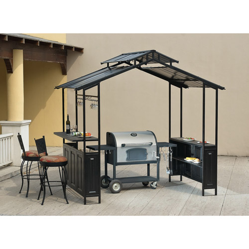 Deluxe Hardtop Grill Shelter