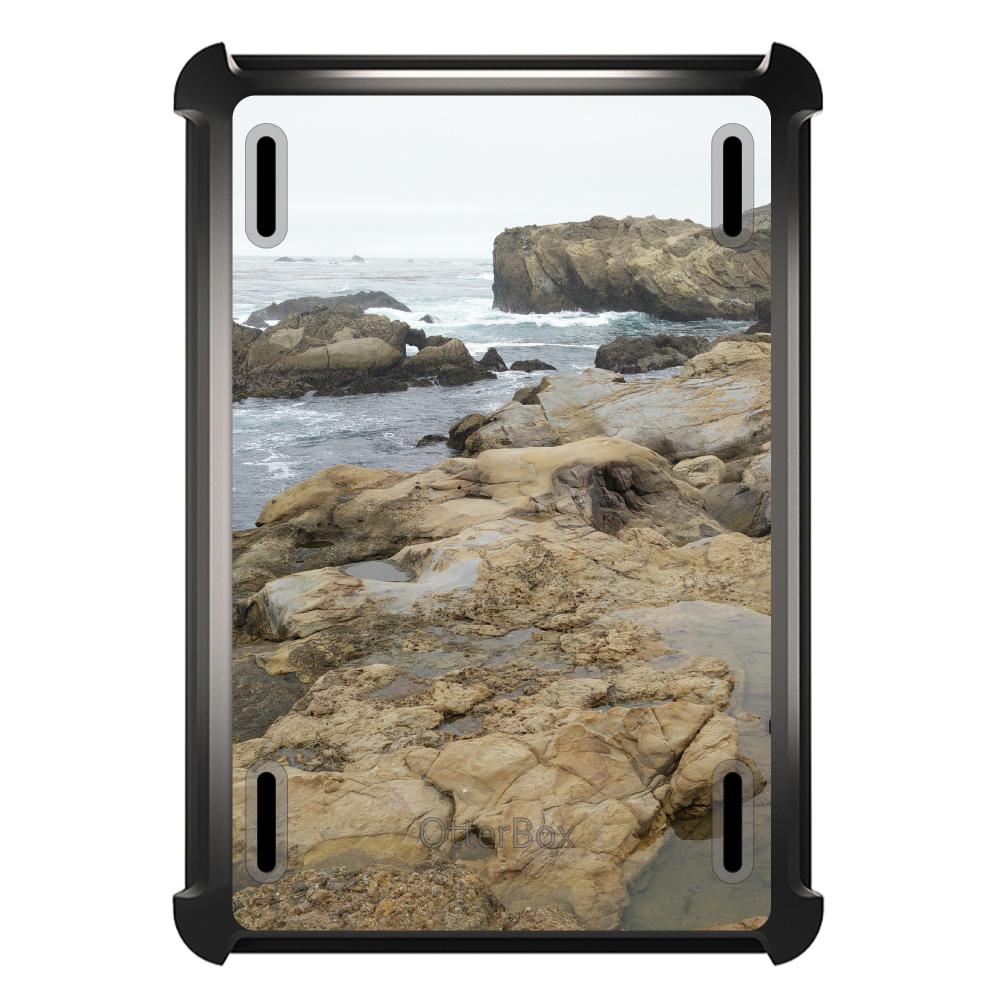 CUSTOM Black OtterBox Defender Series Case for Apple iPad Air 2 (2014 Model) - Point Lobos Reserve