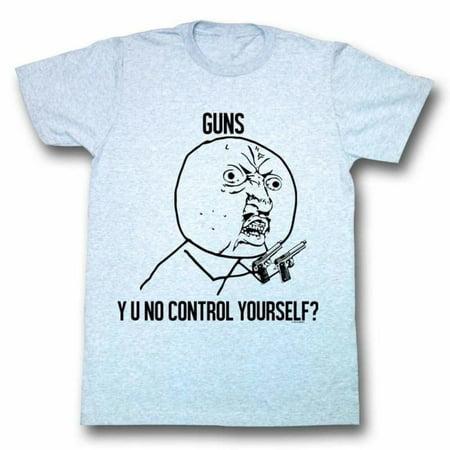 Y U No Memes Fun Control Adult Short Sleeve T Shirt (Halloween Zumba Meme)