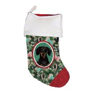dachshund blacktan best of breed dog breed christmas stocking - Rustic Christmas Stockings