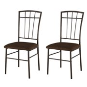 Pilaster Designs - Set Of 2 Metal With Microfiber Seats Dining Room Kitchen Side Chairs
