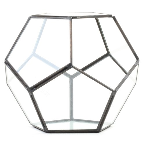 Koyal Wholesale Pentagon Geometric Table Glass Terrarium