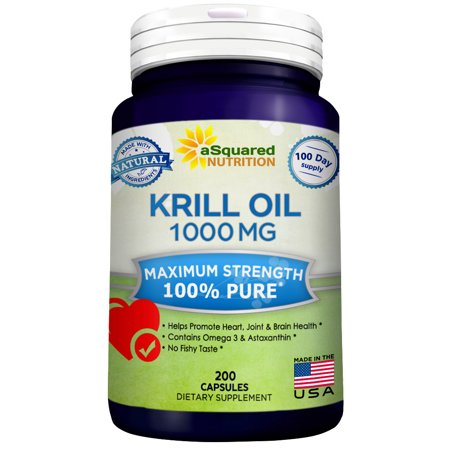 Pure Krill Oil 1000Mg W  Astaxanthin   Omega 3 Xl  200 Capsule Supplements  Antarctic Sourced Rich In Dha   Epa   Phospholipids  Compare To Omega 3 6 9 Fish Oil Fatty Acids  100  Purified No Mercury
