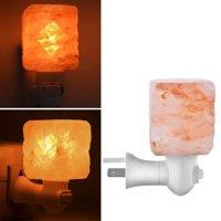UBesGoo Himalayan Rock Salt Lamp Pink Salt Crystal Natural  Decor Lighting,Wall Plug Decoration Salt Rock Lamp