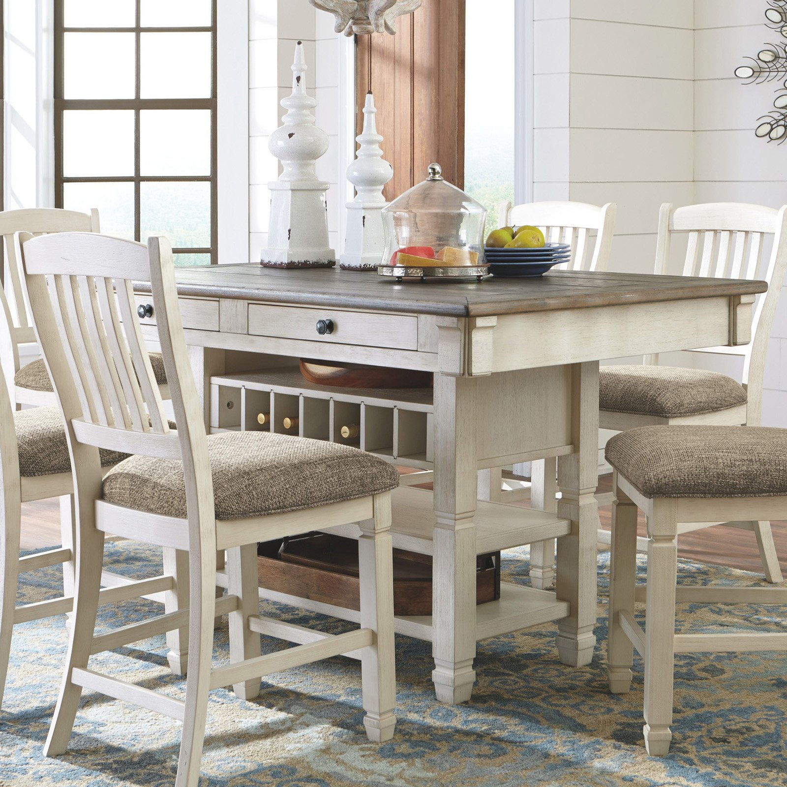 Genial Signature Design By Ashley Bolanburg Rectangular Counter Height Dining Table