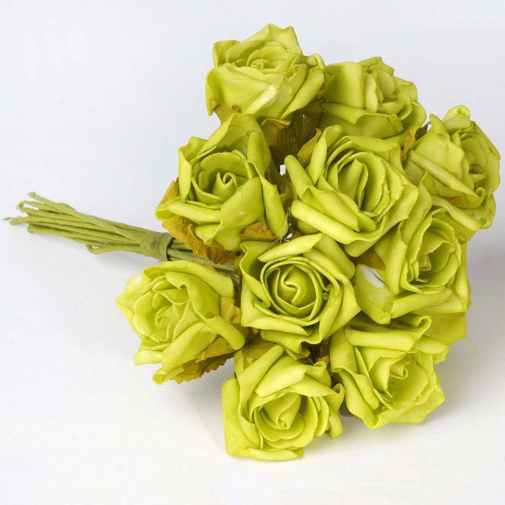 BalsaCircle 72 Silk Blooming Rose Bouquets - 6 bushes - Artificial Flowers DIY Wedding Party Bouquets Arrangements Centerpieces