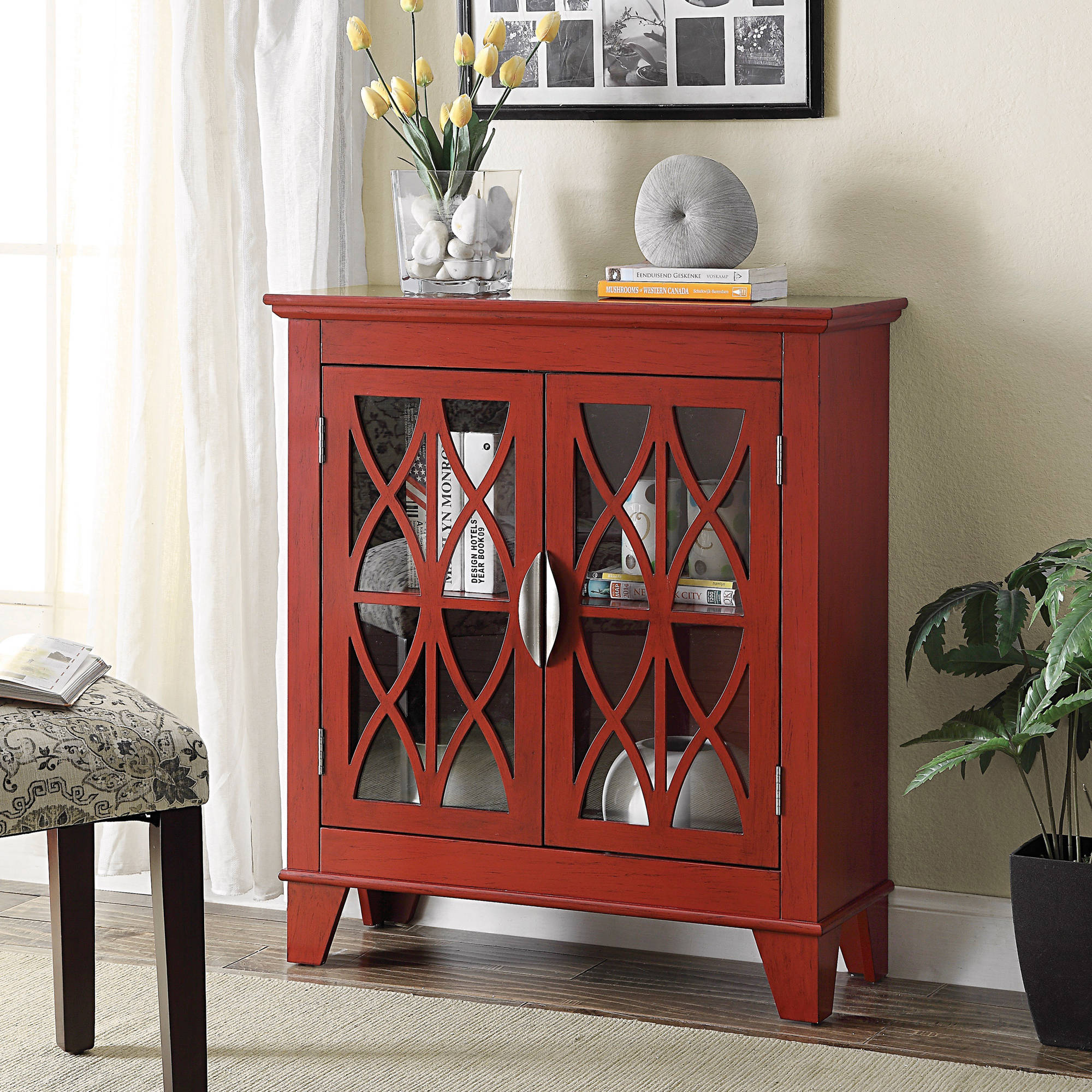 Coaster Red Accent Cabinet