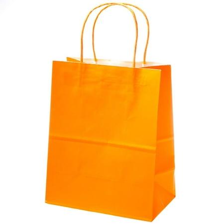 Medium Orange Kraft Gift Bags