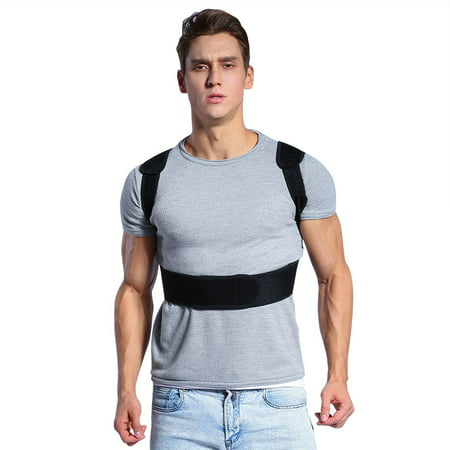Posture Corrector Brace and Clavicle Support Straightener with Comfortable Neoprene Upper Back Shoulder Forward Head Neck Aid for Women and Men ( L 35
