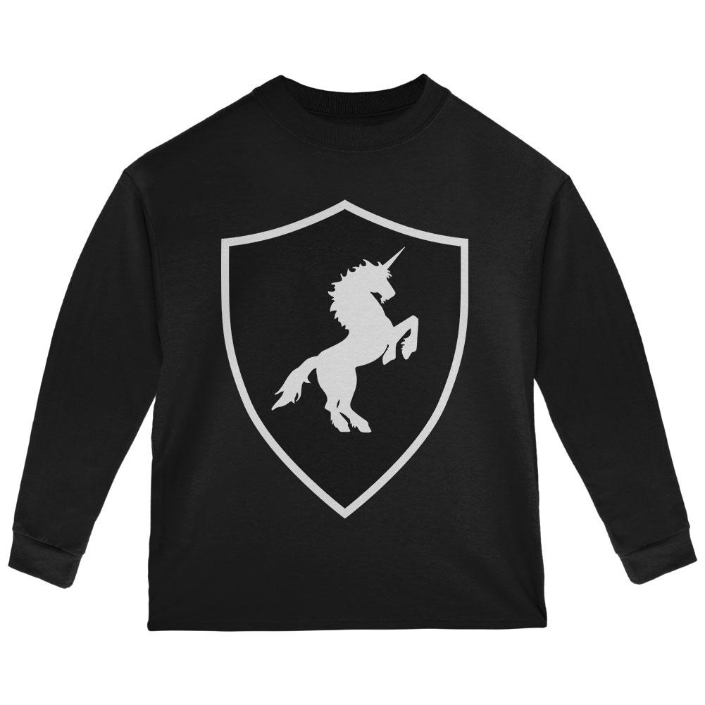 Halloween Knight Shield Costume Unicorn Toddler Long Sleeve T Shirt