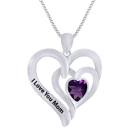 - Heart Cut Simulated Amethyst