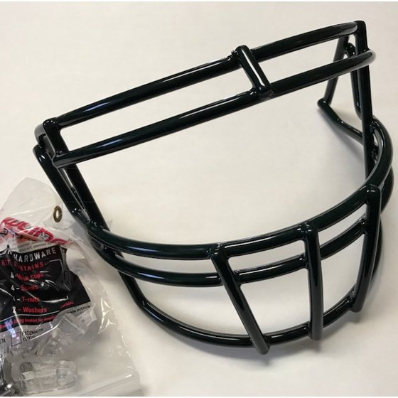 240ba039088a Rawlings Momentum Youth football face mask with hardware Dark Green SO2RJR  - Walmart.com
