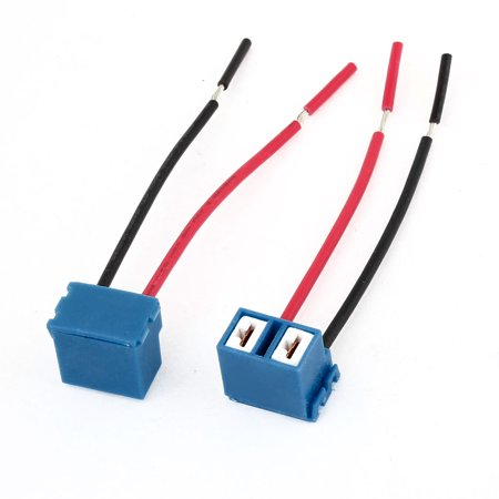 2 Pcs DC 12V H7 Ceramic Headlight Harness Wiring Wire Socket Pig Tail - image 1 of 1