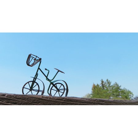 Canvas Print Bicycle Bike Old Fashioned Biking Cycle Cycling Stretched Canvas 10 x 14 ()