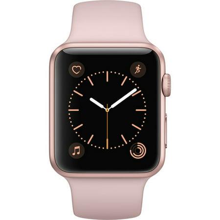 - Refurbished Watch Series 1 42mm Apple Rose Gold Aluminum Case Pink Sand Sport Band MQ112LL/A