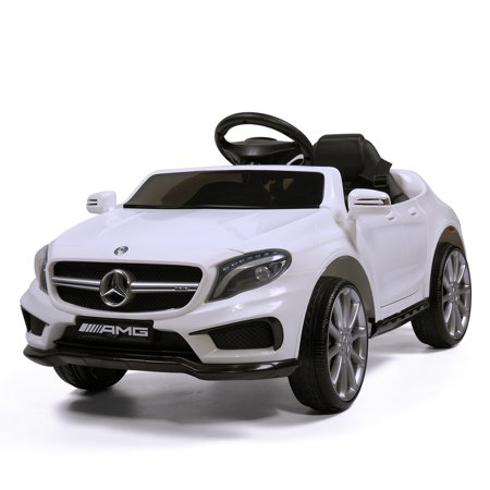 Jaxpety 6V Kids Ride On Electric Car Mercedes Benz Licensed MP3 RC Remote Control White Mercedes Benz 500sl