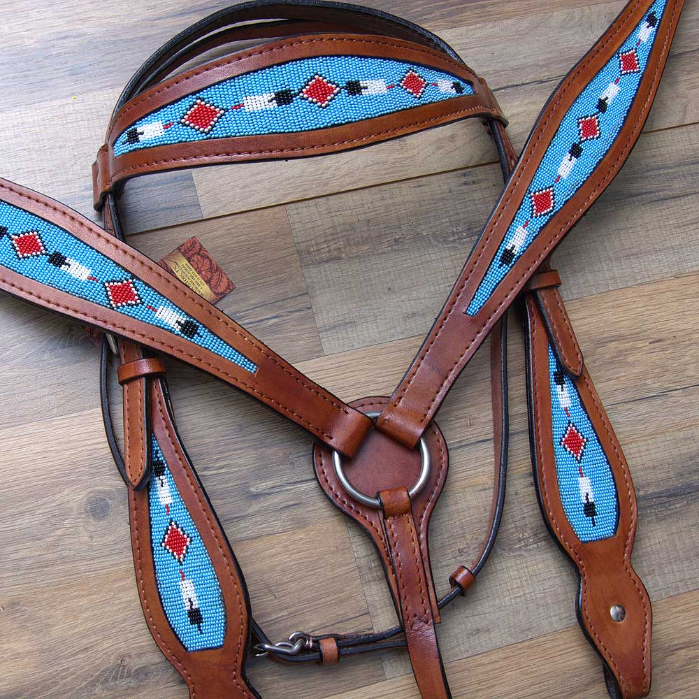 COMFYTACK WESTERN LEATHER BRIDLE HEADSTALL BREAST COLLAR ...