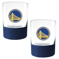 Golden State Warriors 2-Pack 14oz. Rocks Glass Set with Silcone Grip - No Size