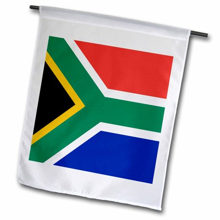 3dRose Flag of South Africa - Colorful red green blue black white yellow multicolor African world souvenir - Garden Flag, 12 by 18-inch - Black Red And Yellow Flag