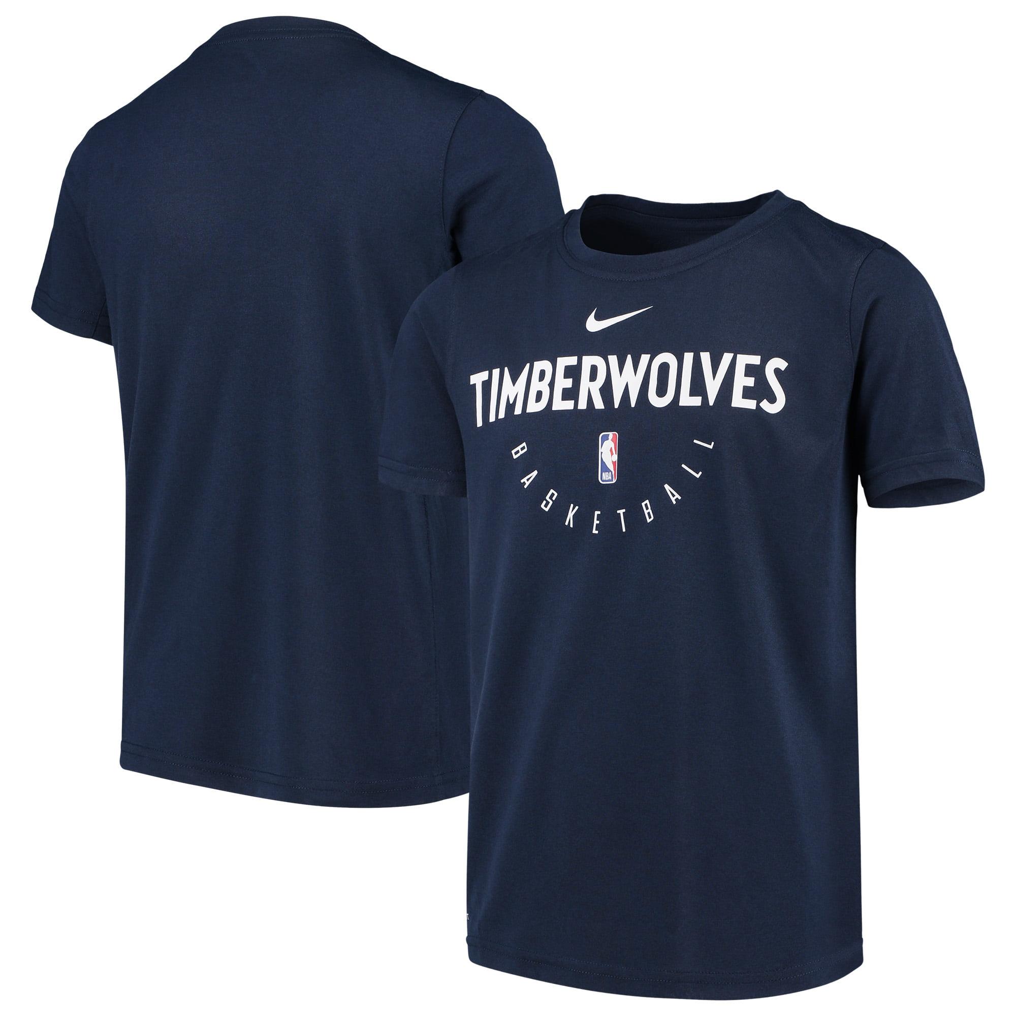 Minnesota Timberwolves Nike Youth Practice Logo Legend Performance T-Shirt - Navy