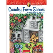 Creative Haven Coloring Books: Creative Haven Country Farm Scenes Coloring Book (Paperback)